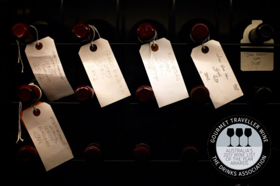 Three Glasses, Australia's Wine List of the Year Awards 2017